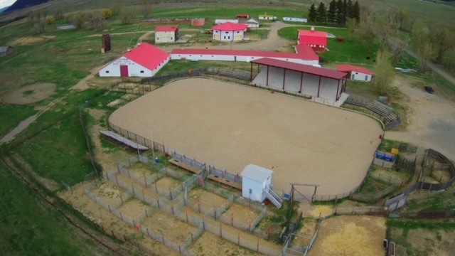 aerial view of fairgrounds